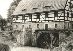 Gauernitz Schulze Muehle Wasserrad Kat. Klipphausen