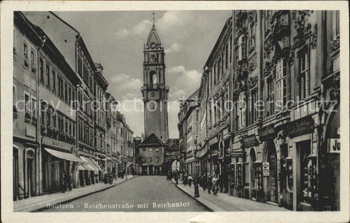 Bautzen Reichenstrasse mit Reichentor Kat. Bautzen