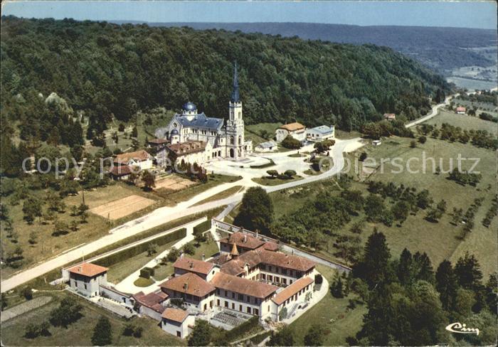 Domremy la Pucelle Vosges Fliegeraufnahme Basilique Nationale Ste Jeanne d Arc  Kat. Domremy la Pucelle