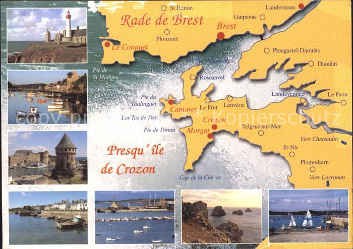 Crozon Rade de Brest Telgruc sur Mer Plomodiern  Kat. Crozon