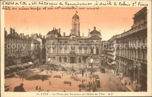 Lyon France Place des Terreaux et Hotel de Ville Kat. Lyon