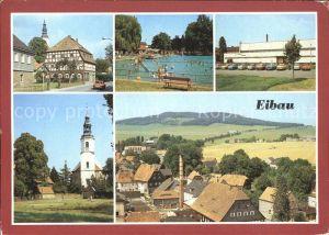 Eibau Dorfmotiv Freibad Sporthalle Am Kottmar Kirche  Kat. Eibau