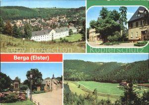 Berga Elster Teilansicht Bahnhofstr Schloss Str Elstertal Kat. Berga Elster