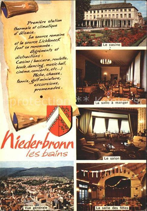Niederbronn les Bains Vue generale Hotel Les Vosges Le casino Salle a manger Salon Salle des fetes Kat. Niederbronn les Bains