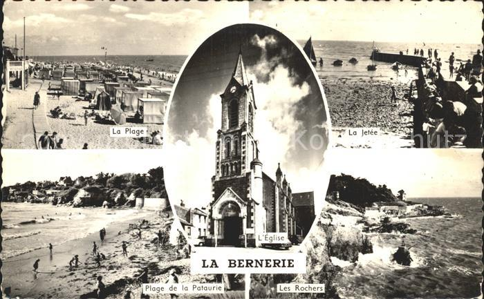 La Bernerie en Retz Plage Jetee Plage de la Pataurie Les Rochers Eglise Kat. La Bernerie en Retz