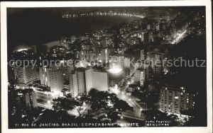 Rio de Janeiro Copacabana a noite Kat. Rio de Janeiro