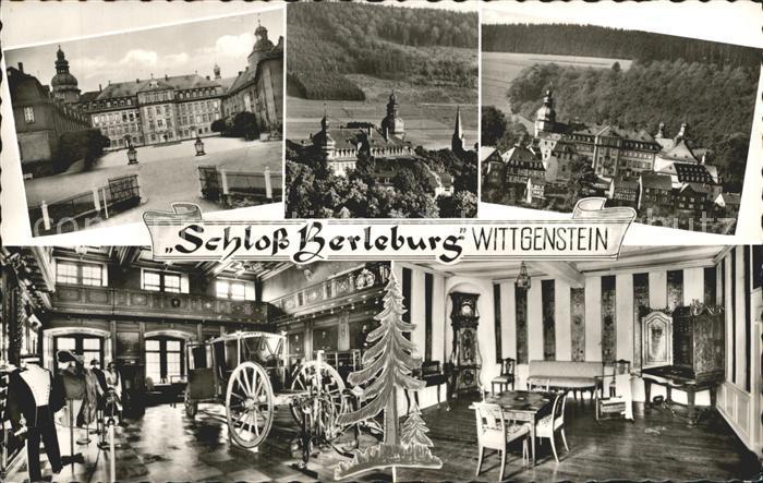 Berleburg Bad Schloss Berleburg Wittgenstein Teilansichten Kat. Bad Berleburg