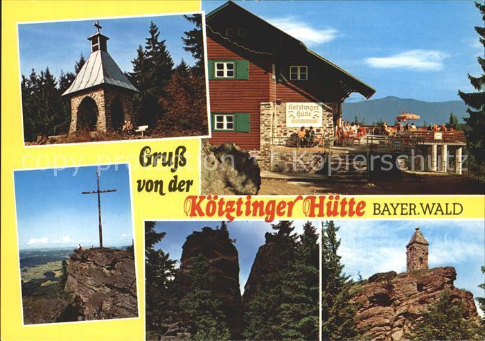 Koetzting Koetztinger Huette Kapelle Gipfelkreuz Kaitersberg Kat. Bad Koetzting
