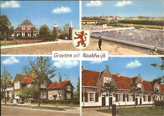 Naaldwijk Ortspartien mit Schwimmbad Kat. Naaldwijk