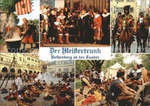 Rothenburg Tauber Der Meistertrunk Festspiel Kat. Rothenburg ob der Tauber