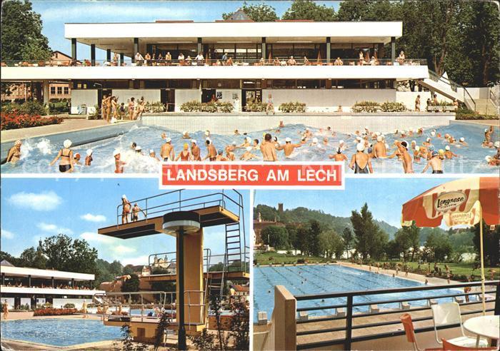 ak landsberg luftbildpanorama nr 7711599 oldthing ansichtskarten deutschland plz 80 89. Black Bedroom Furniture Sets. Home Design Ideas
