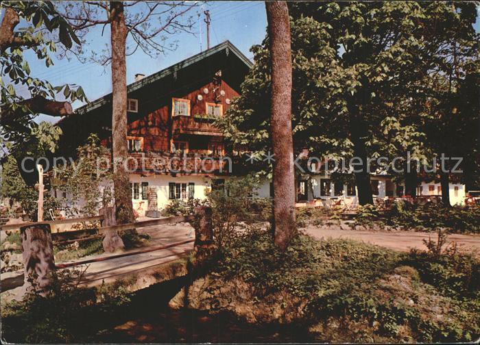 Bad Heilbrunn Gasthaus Cafe Ramsau Pension Kat. Bad Heilbrunn