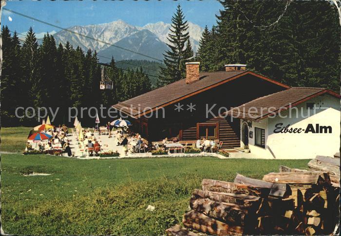 Eibsee Berggasthof Eibsee Alm Zugspitze Kat. Grainau