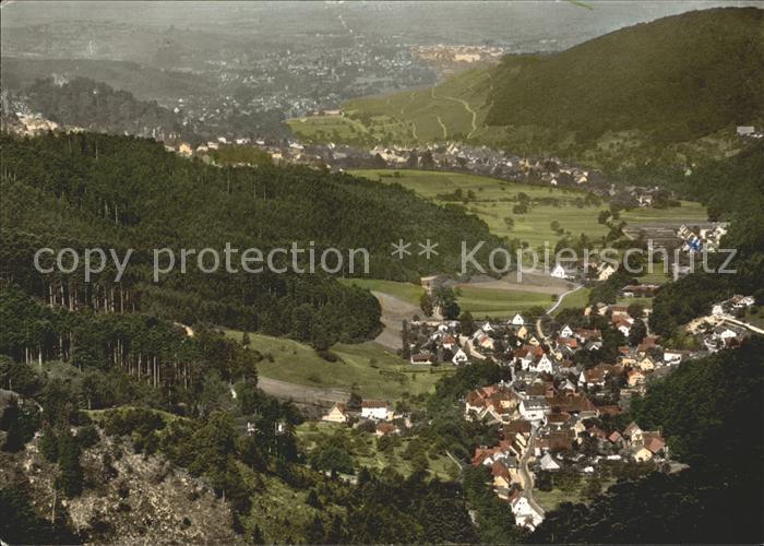 Schweighof Badenweiler Blick nach Badenweiler Kat. Badenweiler