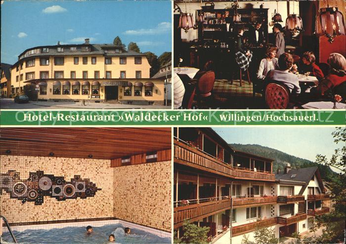 Willingen Sauerland Hotel Restaurant Waldecker Hof Kat. Willingen (Upland)