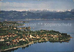 Nonnenhorn Fliegeraufnahme mit Bodensee Kat. Nonnenhorn Bodensee