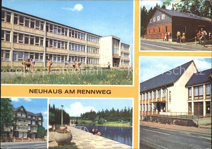 Neuhaus Rennweg Leunawerke Rennsteigbaude Erholungsheim Ernst Thaelmann Kat. Neuhaus Rennweg