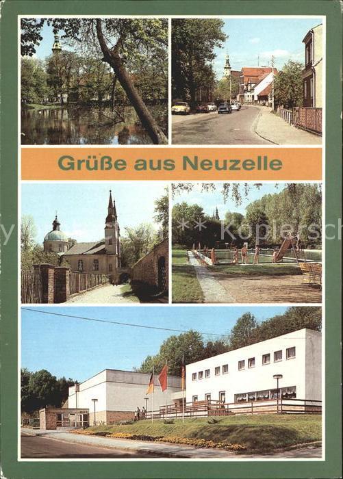 Neuzelle Klosterteich Frankfurter Strasse Kirche Kreikulturhaus Kat. Neuzelle