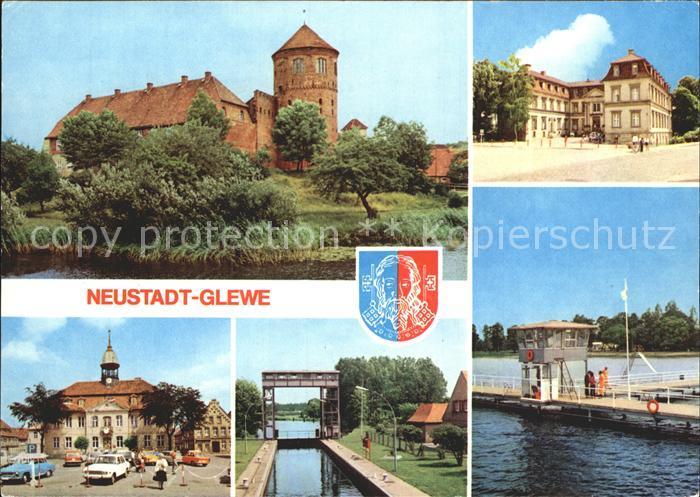 Neustadt Glewe Burg Schloss Rathaus Kat. Neustadt Glewe