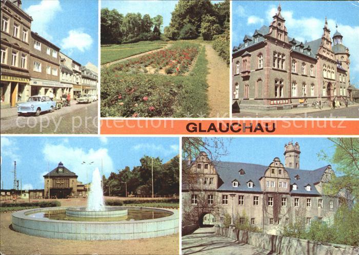 Glauchau Rosarium Postamt Schloss Vorderglauchau Kat. Glauchau