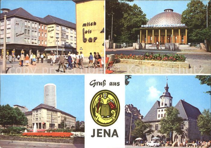 Jena Kirchplatz Zeiss Planetarium Uni Hochhaus  Kat. Jena