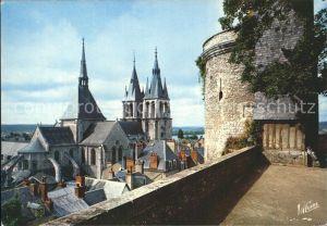 Blois Loir et Cher Terrasse Chateau Eglise Saint Nicolas  Kat. Blois