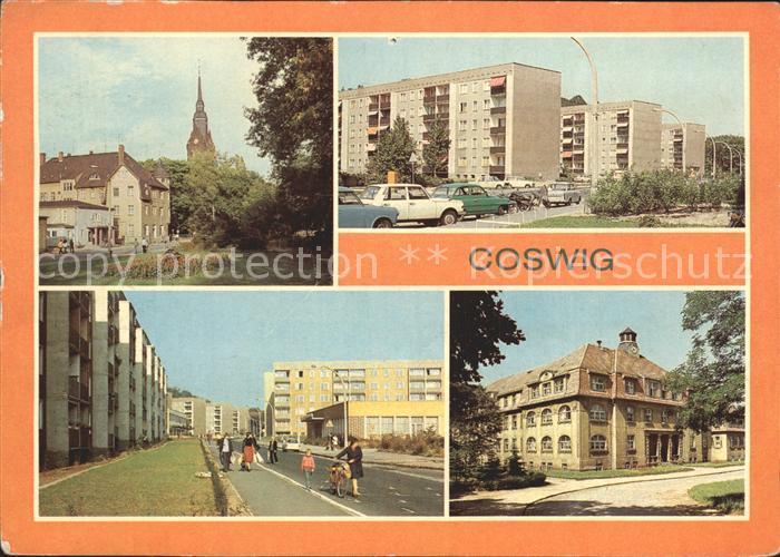 Coswig Sachsen Friedrich Engels Platz Strasse der Befreiung Pflegeheim Coswig Kat. Coswig