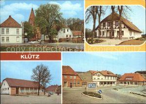 Kluetz Wismarsche Strasse Ferienheim des VEB DEFA Berlin HOG Kluetzer Eck Markt Kat. Kluetz