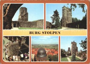 Stolpen Burg Stolpen Siebenspitzenturm Johannisturm Brunnen Schloesserturm Seigerturm Kat. Stolpen