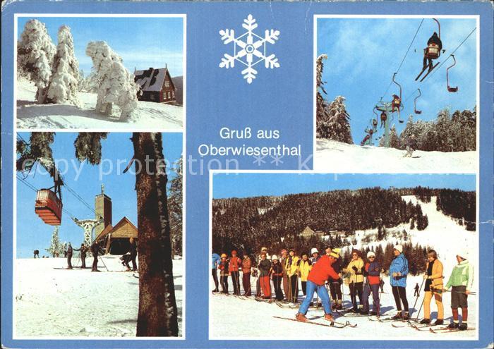 Oberwiesenthal Erzgebirge Winteridyll Bergbahn Sessellift Skikurs Kat. Oberwiesenthal