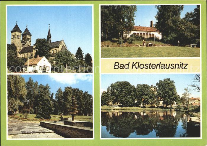 Bad Klosterlausnitz Klosterkirche Sanatorium Dr Friedrich Wolf Kurpark Schwanenteich Kat. Bad Klosterlausnitz