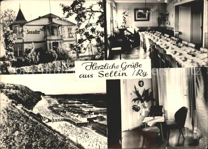 Sellin Ruegen Haus Seeadler Speisesaal Zimmer Strandpartie Kat. Sellin Ostseebad