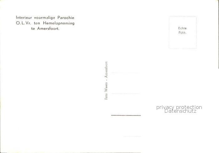 Amersfoort Interieur voormalige Parochie O.L.Vr. ten Hermelopneming ...