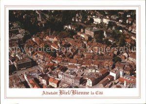 Biel Bienne Fliegeraufnahme Altstadt Kat. Biel