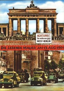 Berlin Brandenburger Tor Mauerbau Soldaten 13. August Kat. Berlin
