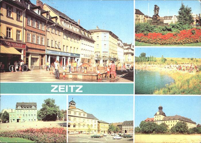 Zeitz Friedensplatz Kretschau Schloss Moritzburg Kat. Zeitz