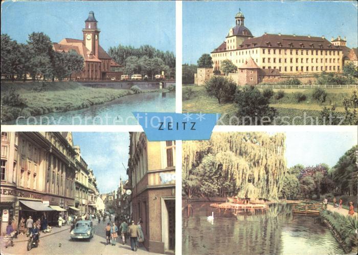 Zeitz Werdische Strasse Moritzburg Schwanenteich Kat. Zeitz