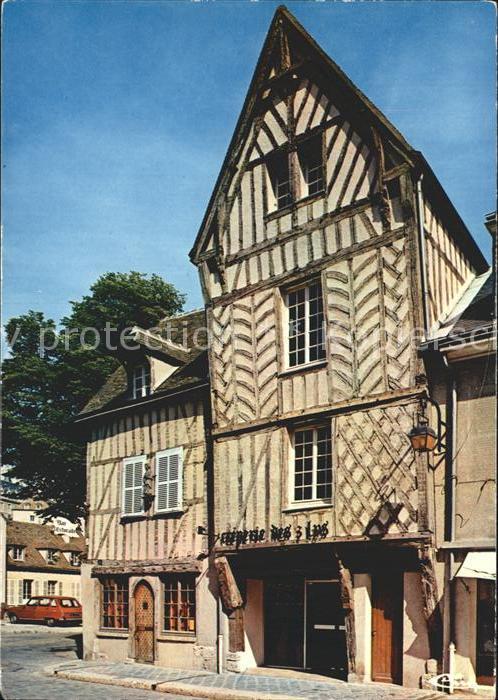 Chartres Eure et Loir Rue Port Guillaume Fachwerkhaeuser Kat. Chartres