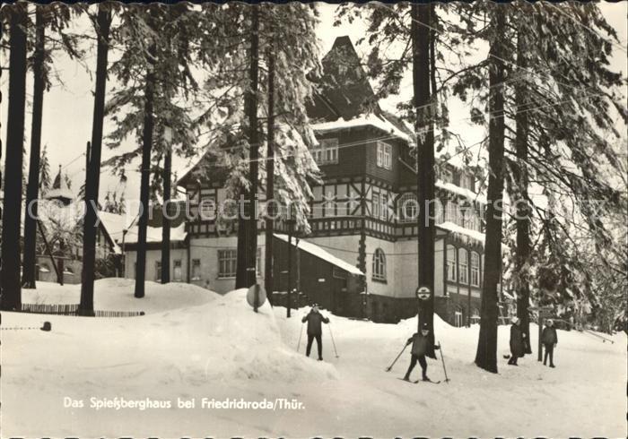 Friedrichroda Spiessberghaus im Winter Wintersportplatz Kat. Friedrichroda