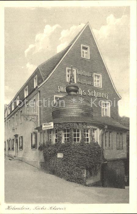 Hohnstein Saechsische Schweiz Haselhuhns Gasthaus Zur Saechsischen Schweiz Kat. Hohnstein