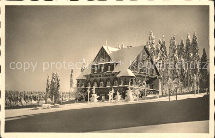 Carlsfeld Erzgebirge Gasthaus Talsperre Winterpanorama Kat. Eibenstock