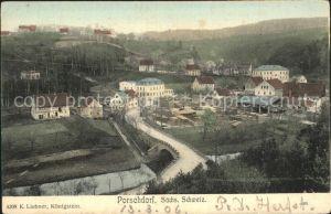 Porschdorf Ortsansicht Kat. Porschdorf