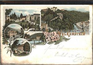 Wolkenstein Erzgebirge Warmbad Hotel Waldmuehle Flossplatz Huettenmuehle Schloss Kat. Wolkenstein
