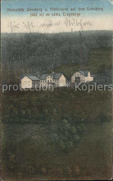 Schneeberg Erzgebirge Heimstaette Gleesberg Koehlerturm auf dem Gleesberg Kat. Schneeberg