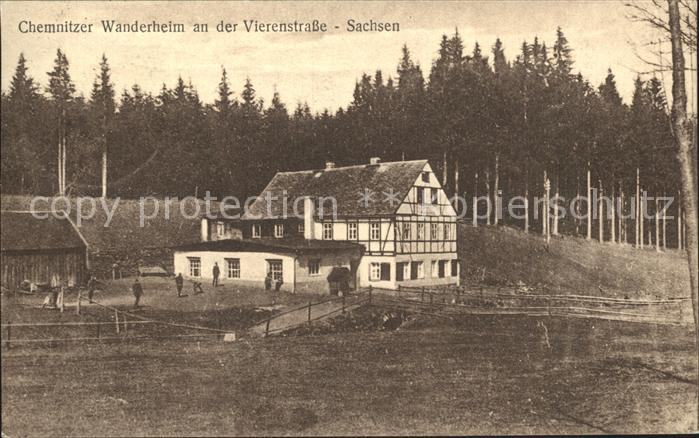Neudorf Erzgebirge Chemnitzer Wanderheim an der Vierenstrasse Kat. Oberwiesenthal
