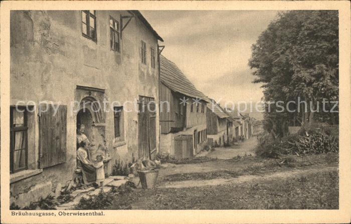 Oberwiesenthal Erzgebirge Braeuhausgasse Serie Saechsische Heimatschutz Postkarten Kat. Oberwiesenthal