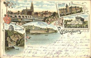 Regensburg Befreiungshalle Schloss Thurn und Taxis Walhalla Kat. Regensburg
