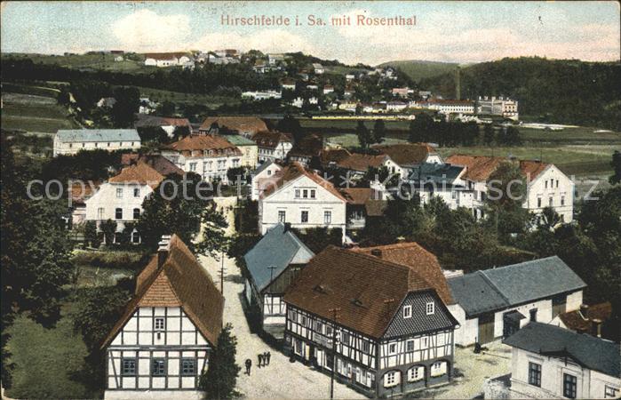 Hirschfelde Sachsen Teilansicht mit Rosenthal / Hirschfelde Zittau /Goerlitz LKR