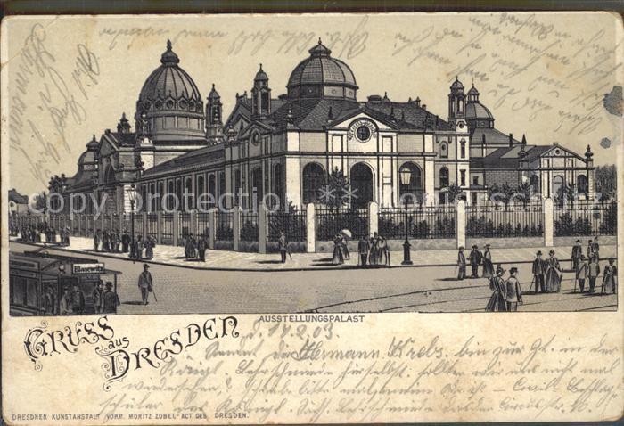 Dresden Ausstellungspalast Kat. Dresden Elbe