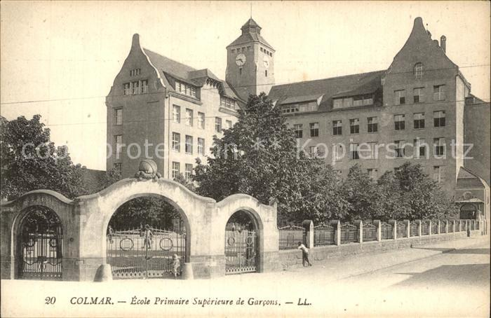 Colmar Haut Rhin Elsass Ecole Primaire Superiere de Garcons / Colmar /Arrond. de Colmar